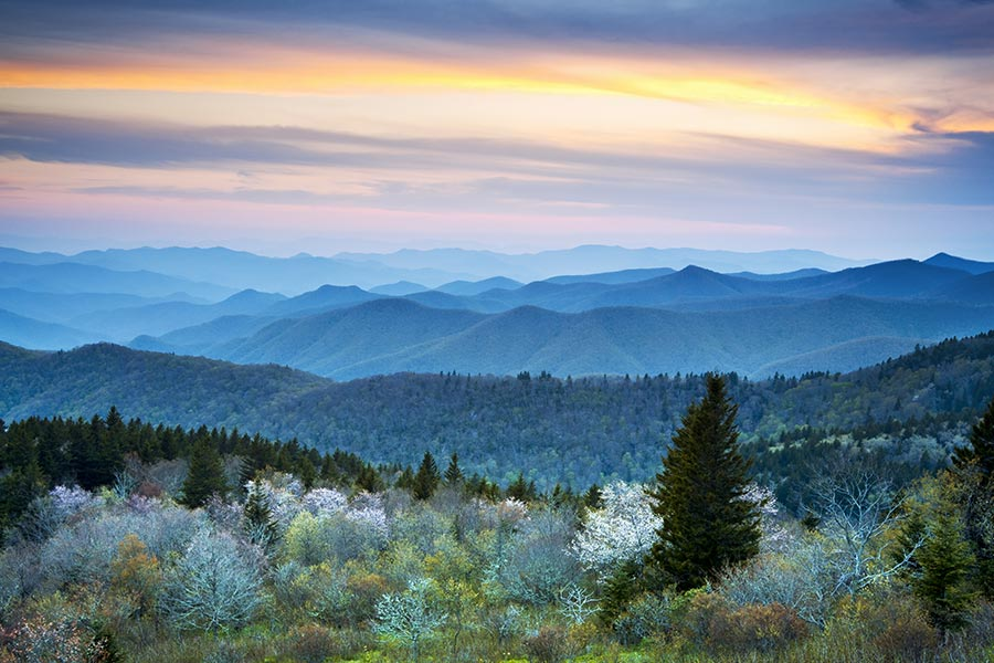 The Blue Ridge Mountains area a great place to go camping, hike or just sit back and enjoy the beautiful mountain views.