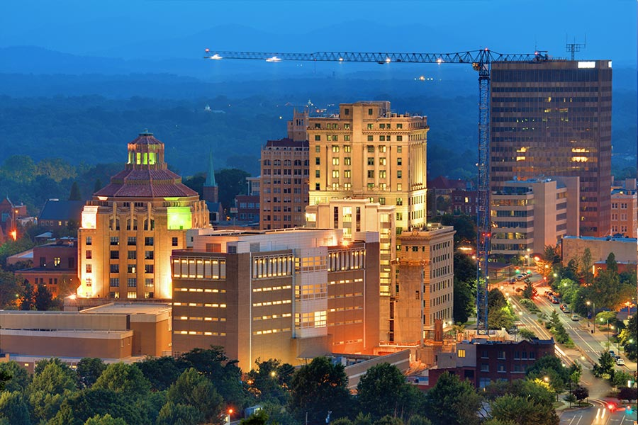 Asheville NC is known for it's music scene, arts and dining. Asheville is located just 85 miles from Blowing Rock.