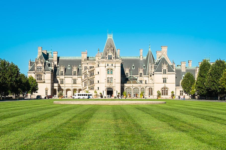The Biltmore Estate located in Asheville NC is a must see local attraction.