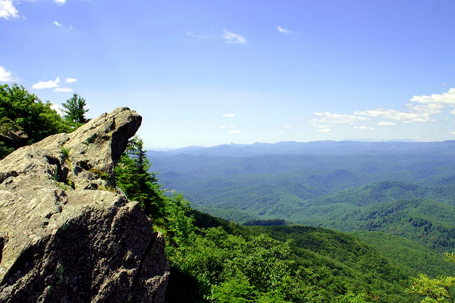 The Blowing Rock is a great tourist attraction well known for it's history, stories, and breathtaking views.