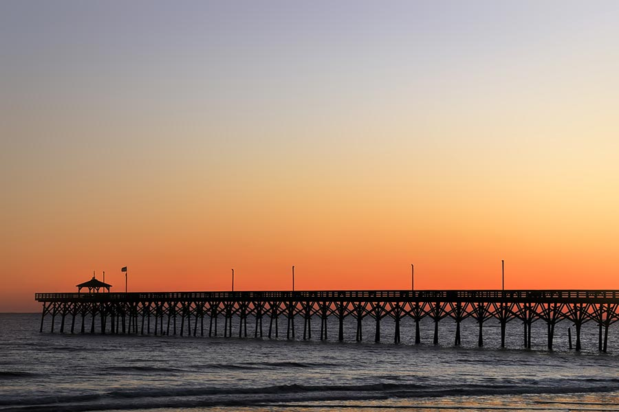 Another gorgeous sunset by the Oak Island pier.
