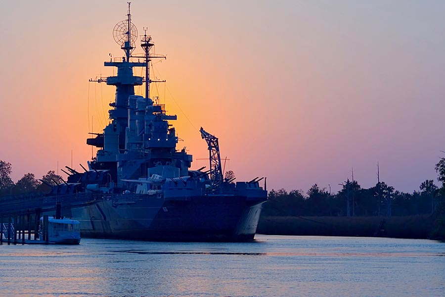 The Battleship North Carolina is a Wilmington landmark that should be seen.